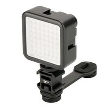Barra de extensión de micrófono para cámara de cardán, accesorios de mano, luz LED, para DSLR, DJI, Osmo Mobile 4, 3, soporte de bolsillo, Smooth Zhiyun 4, 3