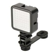 El Gimbal kam aksesuarları LED ışık mikrofon uzatma çubuğu DSLR DJI Osmo mobil 4 3 cep montaj Zhiyun pürüzsüz 4 3
