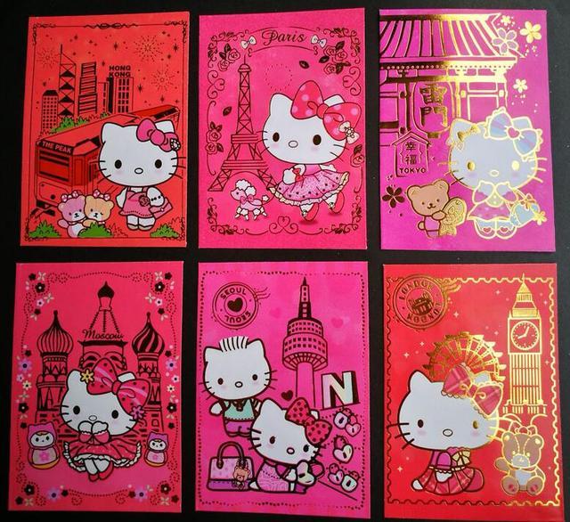 Us 29 9 Ulang Tahun Pernikahan Rumah Baru Tahun Baru Paket Merah Kota Kartun Hello Kitty Tema Festival Musim Semi Amplop Merah Di Kartu Undangan