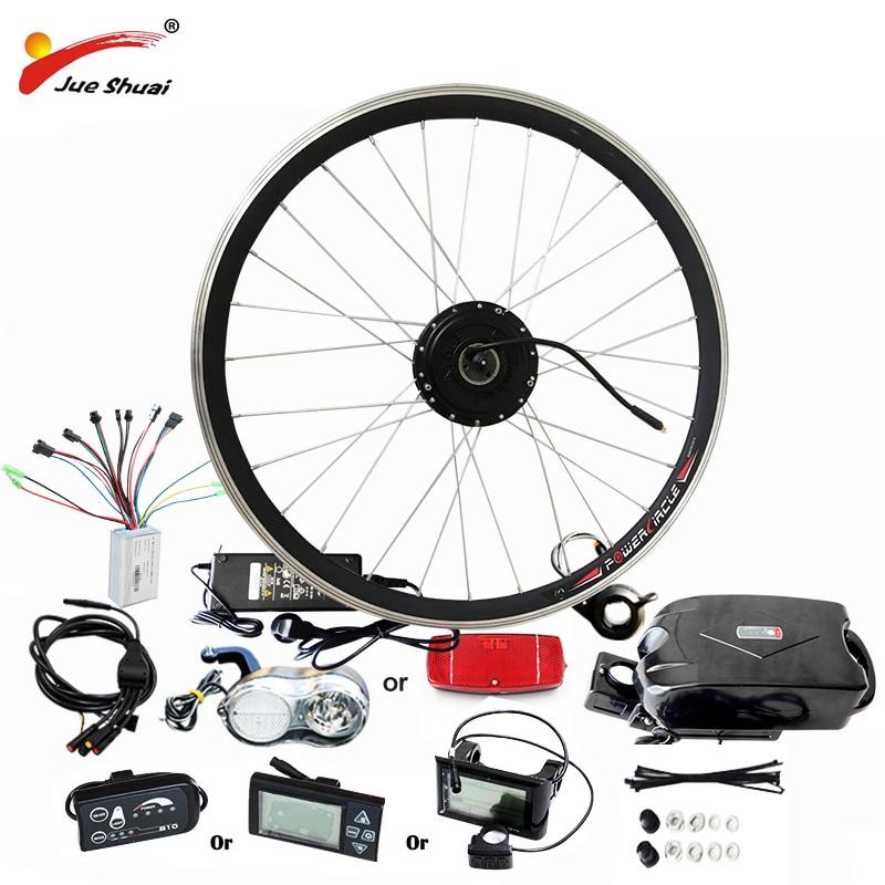 Meilleur Prix $239 Simple Vélo Électrique kit De Conversion De Vélo 36 v 48 v pour 20 24 26 700C 28 Moteur De Moyeu De Roue bicicleta electrica