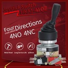Industrial Joystick Switch 30mm 4Position Rocker Switch Momentary Spring Return Switch Cross Rocker Controller Switch