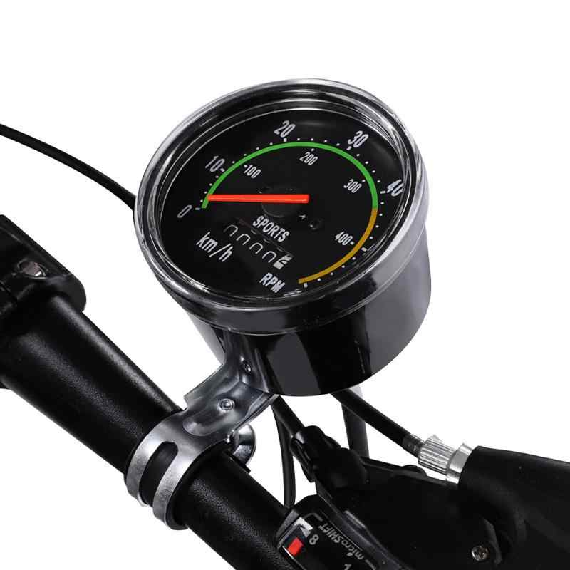 Bicycle Computer Mechanical Classic Retro Cycling Odometer Stopwatch Wired Speedometer Bike Accessory for 26/27.5/28/29inch bike