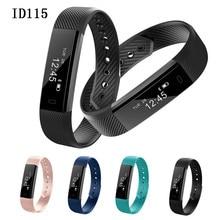 Nueva ID115 Reloj Pulsera Inteligente Rastreador de Ejercicios Paso Contador Monitor de Actividad Band Pulsera de Reloj de Alarma de Vibración para el Smartphone