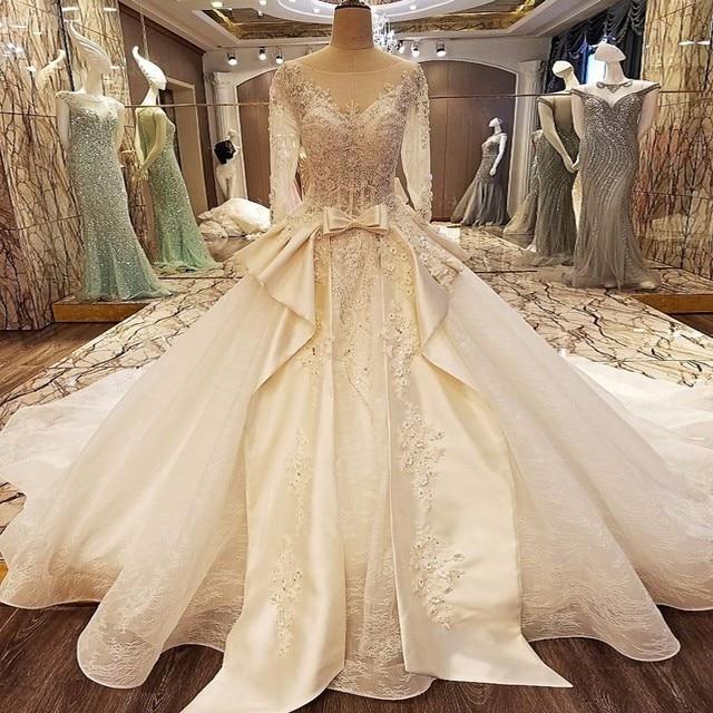 Top Design Sleeveless Sexy Lace Designer Wedding Dresses Luxury
