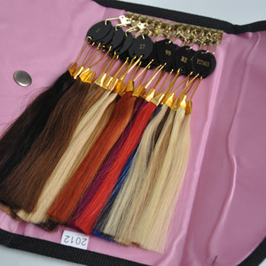 Image 2 - 100% Remy Human Hair Color Rings Color Chart / Hair Extension Tools/Hair Accessory