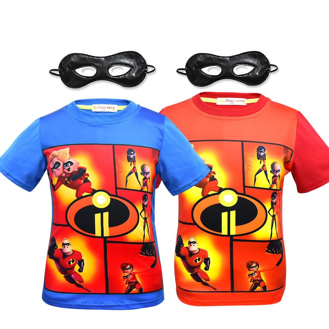 Hot Summer The Incredibles 2 T-shirt Kids Cartoon T shirt Boy's Girl's 3D Print Children's Clothing Halloween Cosplay Costume