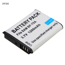 Caméra de remplacement Batterie BP 70A BP70A Pour SAMSUNG PL80 ES70 PL90 PL100 PL101 PL120 PL170 PL200 PL201 SL50 SL600 SL605 SL630