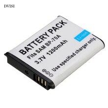Substituição da bateria da câmera BP 70A bp70a para samsung pl80 es70 pl90 pl100 pl101 pl120 pl170 pl200 pl201 sl50 sl600 sl605 sl630