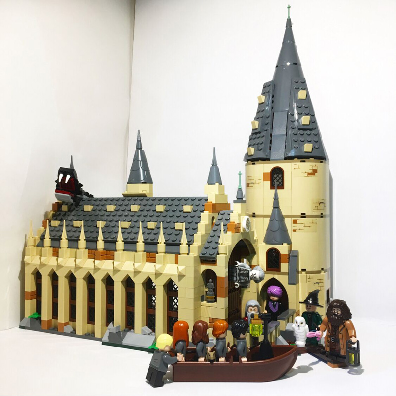 Lepin Movie 16052 983PCS Harry Potter Hogwarts Great Hall Sets Compatible 75954 Model Building Blocks Bricks Toys Christmas Gift цена
