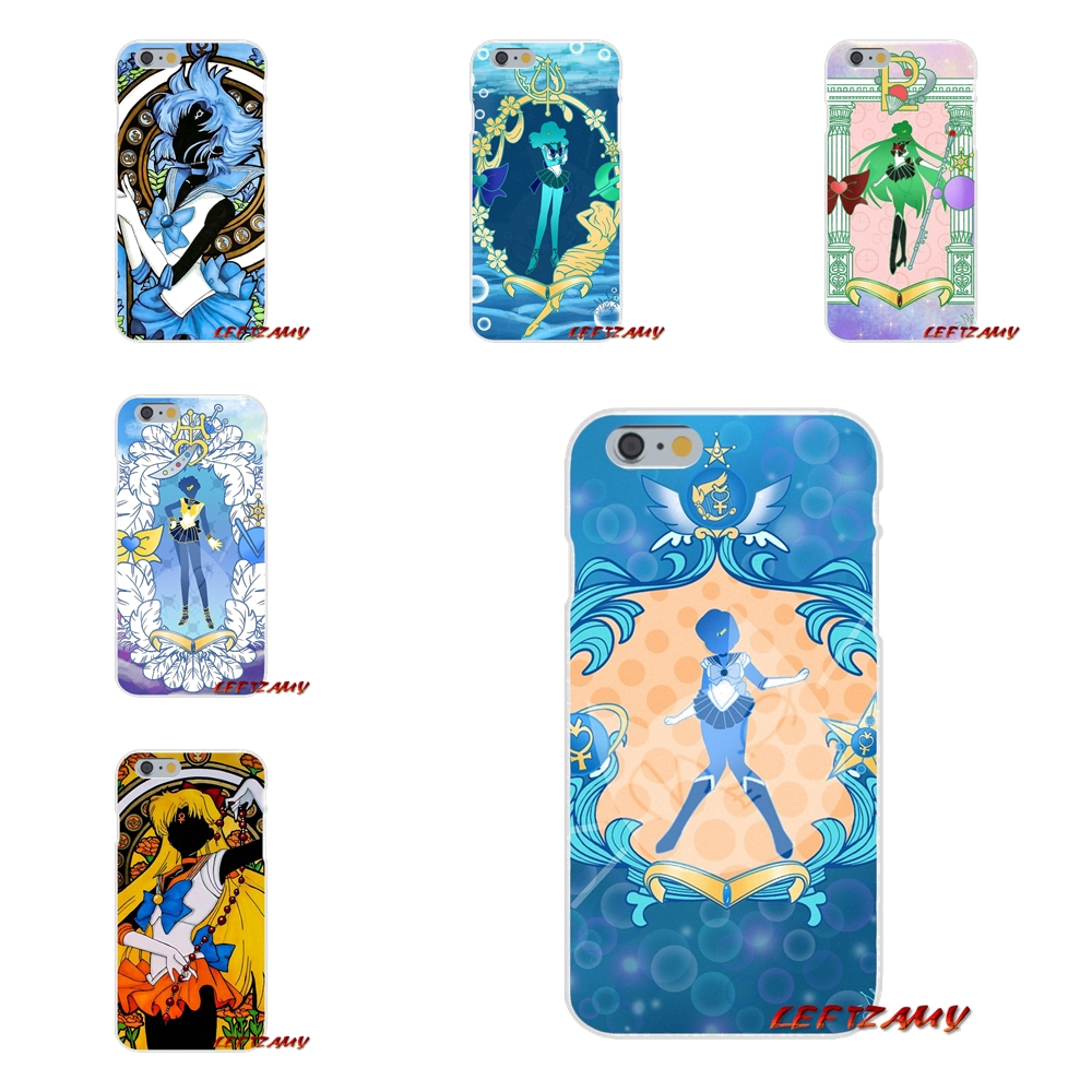 Accessories Skin Case cartoon lovely Sailor moon Character For Samsung Galaxy S3 S4 S5 MINI S6 S7 edge S8 S9 Plus Note 2 3 4 5 8