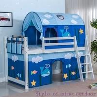Tenda Letto per bambini ragazzo sacco a pelo blu casa auto balena caldo del fumetto tenda