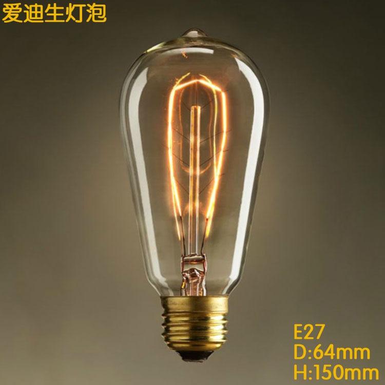 LightinBox 110V 130V 220V 240V E26 E27 Retro Incandescent light bulb ST64 leaves light bulbs Edison Vintage Antique