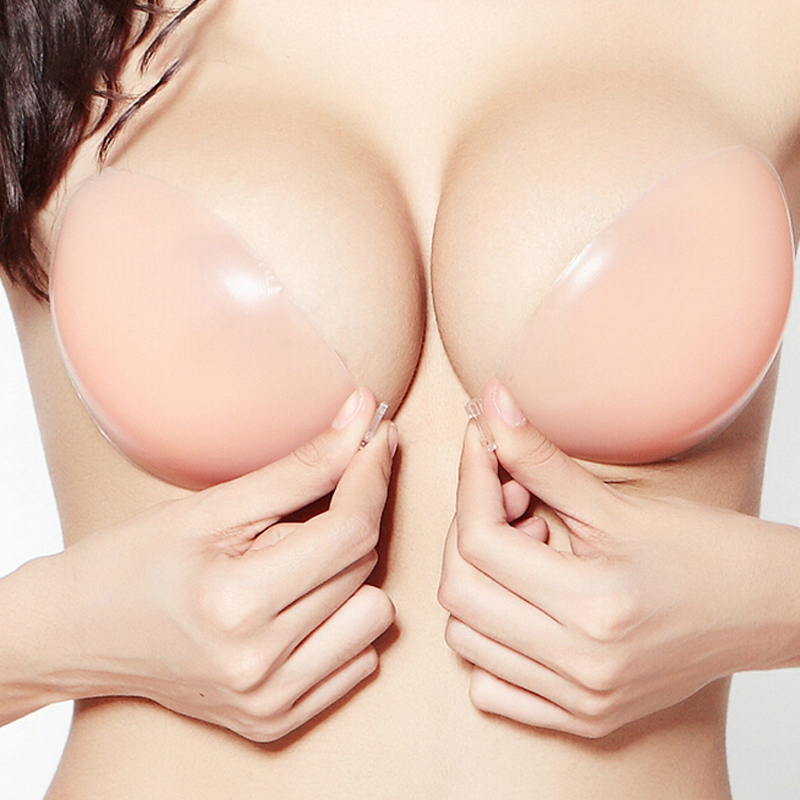 Silicone Bra Invisible Push Up Sexy Strapless Bra Stealth Adhesive Backless Breast Enhancer For Women Lady Nipple Cover(China)