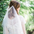Ivory Long Wedding Veils With Comb Boho Bridal Veils Soft Tulle Draped Bridal Veils One-layer Custom Length & Colors Veils