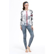New Hot Yoga Suits Top&Pants Sets Women's Running Fitness Sports Tights Jumpsuit Bodysuit Print Jogging Tee&Legging
