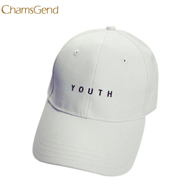 CHAMSGEND 2018 Embroidery Cotton Black White Baseball Cap Boys Girls Snapback Hip Hop Flat Hat Fashion Casual
