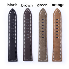 Genuine Leather Watchband for Universal Watch with Hand Made 18 20 22 24mm Width  For Panerai Watch Band Strap +Tool Spring Bar все цены