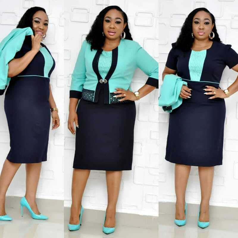 African Clothes Two Pieces Set Women High Quality Office Lady Lace Coat&Short Sleeve Pencil Bodycon Bandage Dress Suit Plus Size