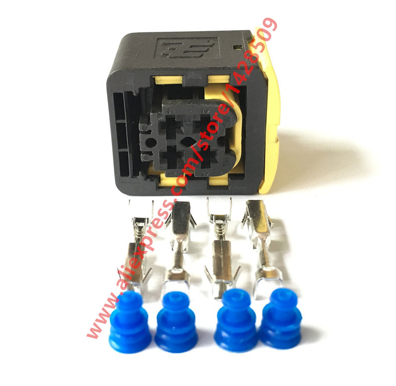 5 Sets Tyco Amp 4 Pin Female Waterproof Automotive Electric Connector 1 1418390 1