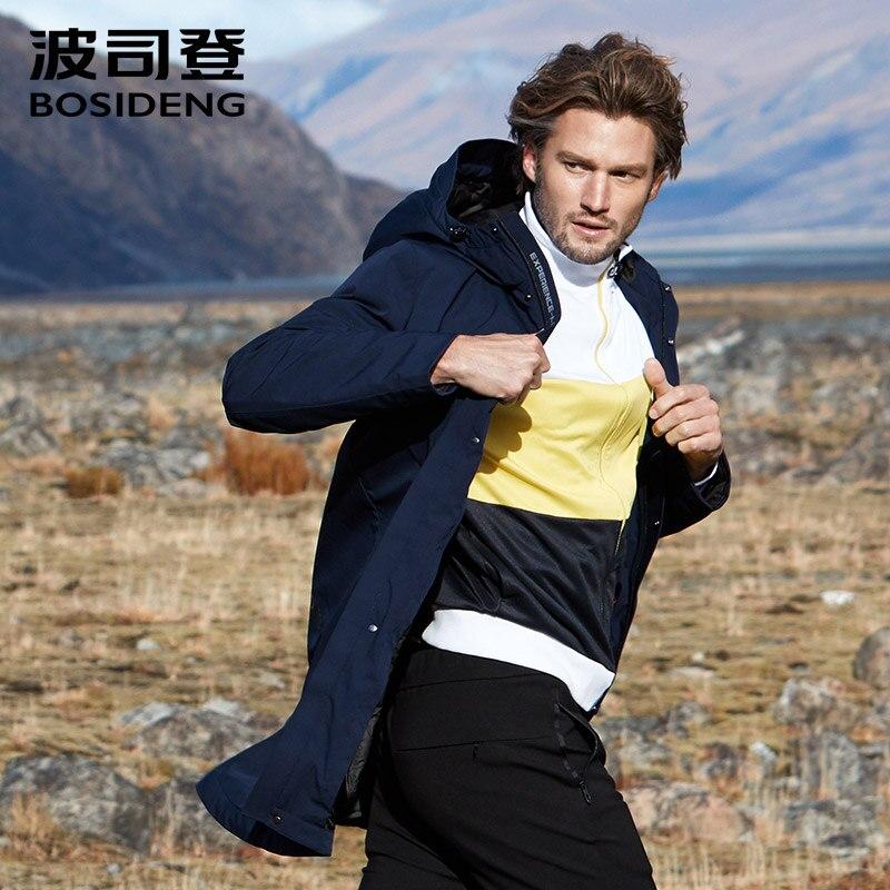 BOSIDENG nuevo abrigo de plumón para hombre invierno rompevientos ropa larga con capucha impermeable largo suelto B80132113-in Plumíferos from Ropa de hombre    1