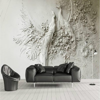 3D Stereo Relief Peacock Wallpaper For Walls 3d Wall Paper TV Background Painting Mural Wallpapers Home