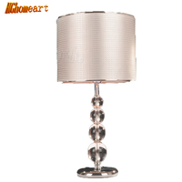 Fashion modern brief fashion all match crystal table lamp big bedside lamp dimmable led desk lamp reading bed light
