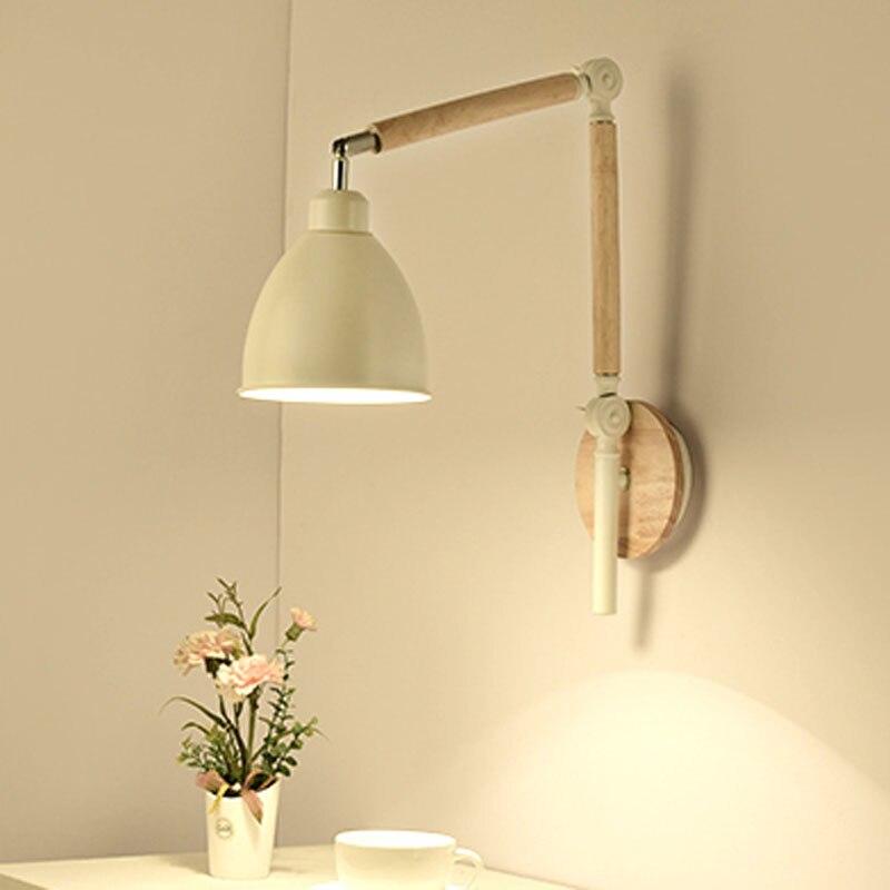Adjustable Wall Lamps Long Arm Folding Light Fixtures Bedrooom Bedside Living Room Office Study Vanity Light Bra Wall Sconces