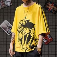 Short Sleeve National Tide Oversize Bat Shirt Anime Couple Harajuku Naruto Boyfriend Gift Stranger Things Funny T Shirts Casual