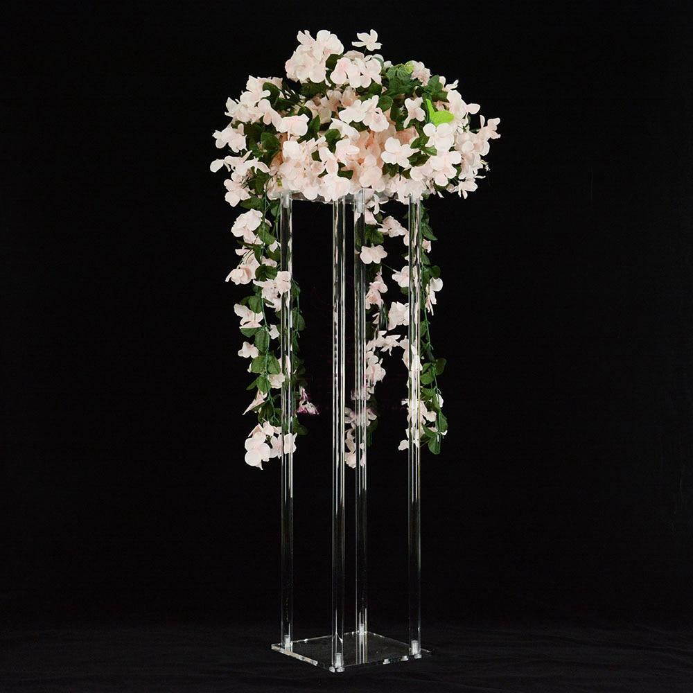 68cm Tall Clear Acrylic Crystal Flower Stand Table Centerpiece Home & Garden