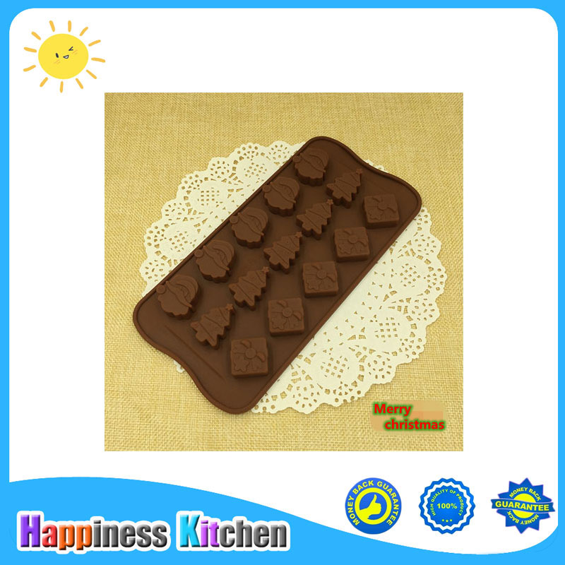 DIY Cookie Tools Christmas Gift Print Silicone Chocolate Ice Mold Sugercraft Cake Topper Soap in Cake Molds from Home Garden