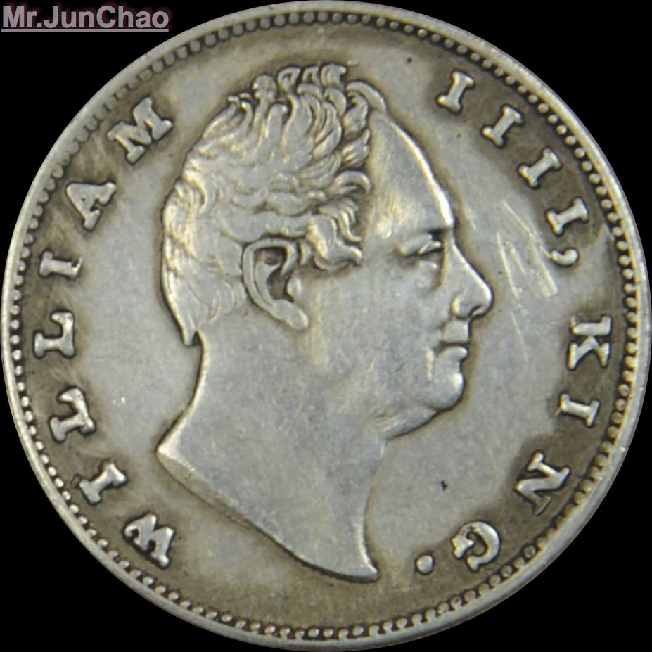 Mr J 1835 India Coin 90 Silver British William Iiii King