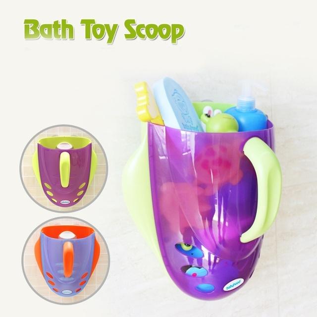Crianças da criança Do Bebê Banheira Banho de Chuveiro Brinquedos De Armazenamento Bin Colher De Armazenamento Organizar Cabide