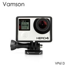 Аксессуары Vamson для Go pro стандартная Защитная плюс рамка штатив Крепежный Винт для GoPro Hero 4 3 + 3 камера VP613