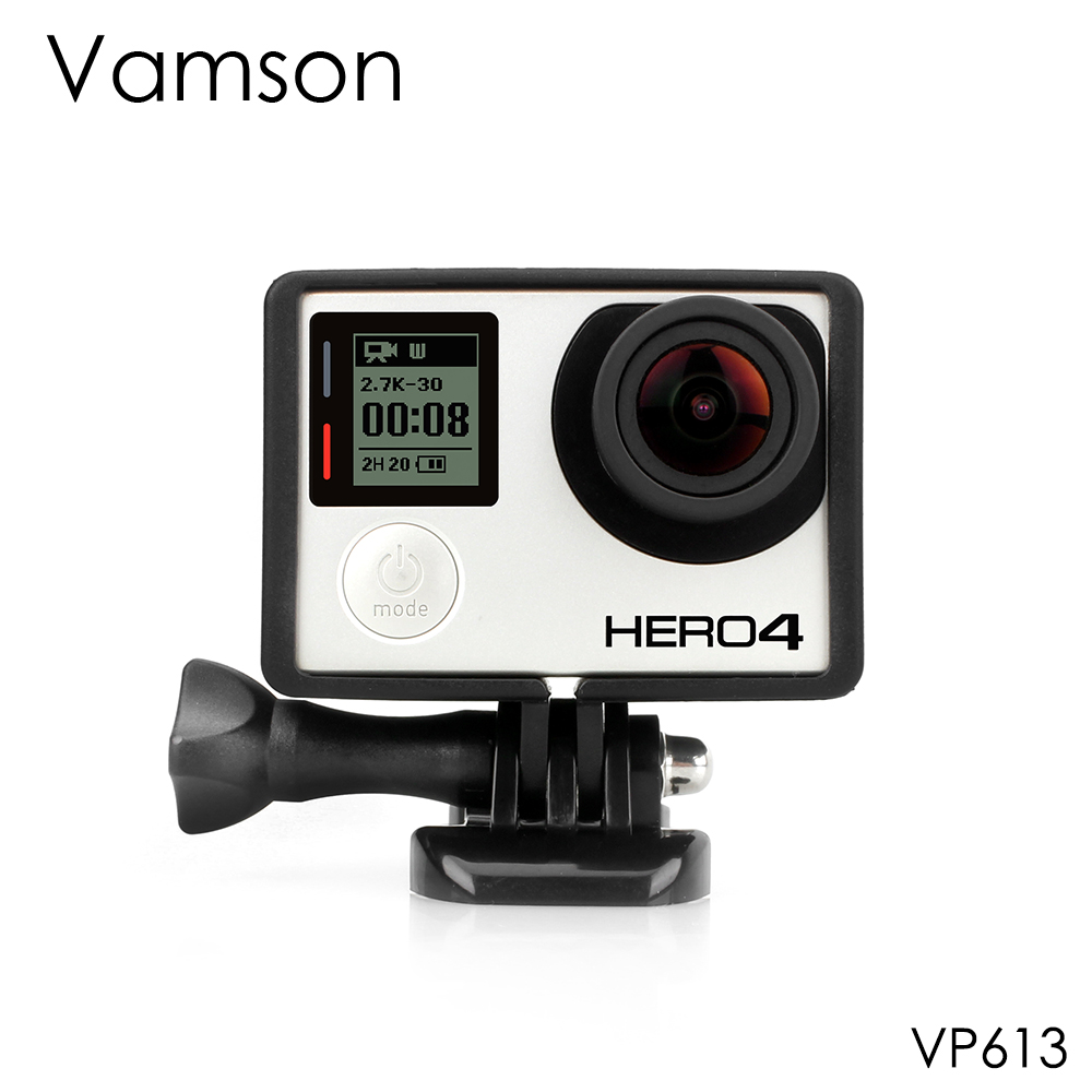 Vamson For Go Pro Accessories Standard Protective Plus Frame Tripod Mount Base Screw For GoPro Hero 4 3+ 3 Camera VP613