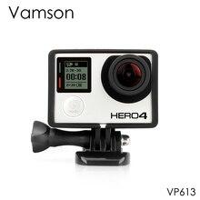 Vamson para go pro acessórios padrão protetor plus frame tripé montagem parafuso base para gopro hero 4 3 + 3 câmera vp613