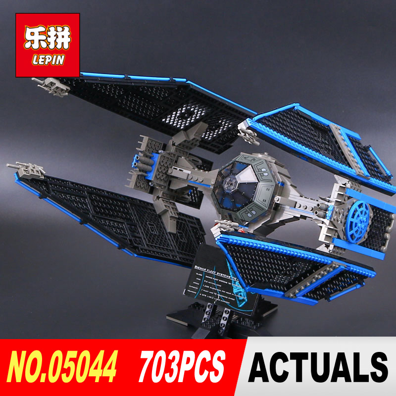New Lepin 05044 703pcs  Star Series Wars Limited Edition The TIE Interceptor Building Blocks Bricks Model Toys 7181 Boy Gifts 1pc iron man star wars c3po mr gold bike building blocks limited edition chrom golden diy figures kids assemble bricks xmas toys