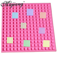 Mujiang 225 Cavity Square Candy Making Silicone Fondant Mold Party Cake Decorating Tools Ice Tray Jelly Chocolate Gumpaste Molds