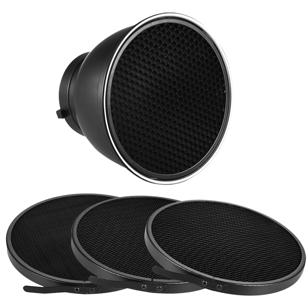 """Haoge 7 Standard Reflector Diffuser Lamp Shade Dish For: 7"""" Standard Reflector Diffuser Lamp Shade Dish With 10/20"""