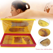Chinese medicine Guasha Scraping set Natual Horn Acupressure Face Neck Back Head Massage Pad Body Relax Beauty Tool health care