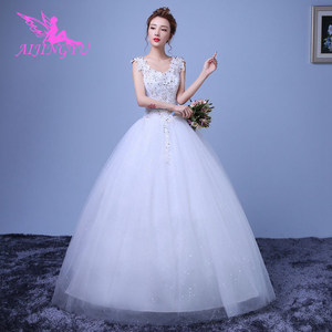 Image 2 - AIJINGYU 2021 gowns new hot selling cheap ball gown lace up back formal bride dresses wedding dress WK659