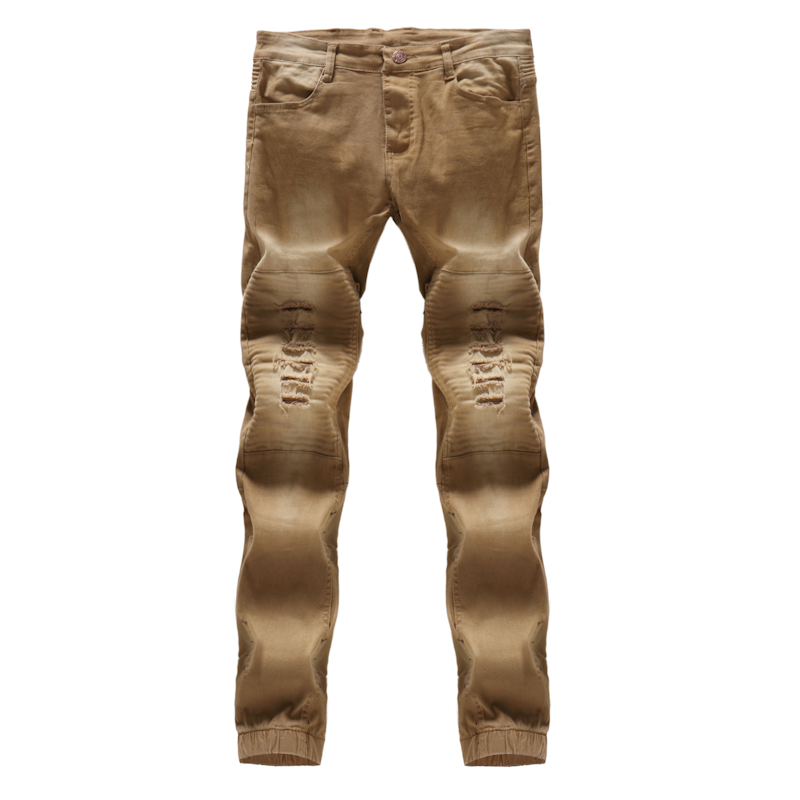 XMY3DWX 2018 autumn high-grade male Slim fit Water washing cowboy pants /fashion mans leisure Pure color Pencil trousers 29-36