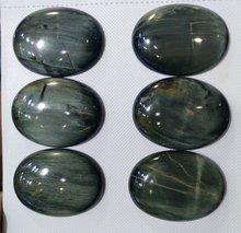 Оптовая продажа драгоценный камень hawk's eye бусина кабошон