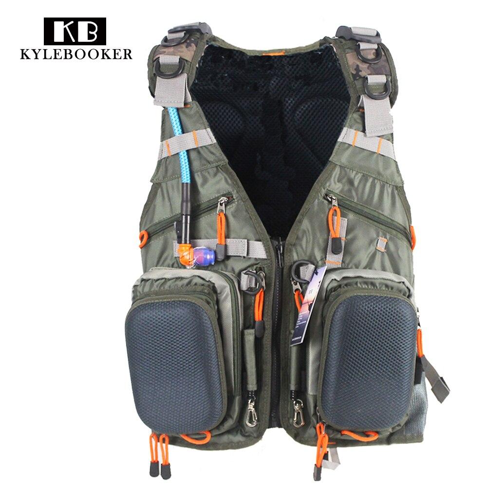Hunting gilet Adjustable Outdoor Sport hunt Bag Multifunction Pockets Fishing Vest Tactical Backpack Fish Accessory bag