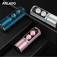 Arlado M2+ TWS True Wireless Ultra Mini Bluetooth Earphone Sport Earbuds Twins Stereo Microphone Headset Earpiece for Smartphone