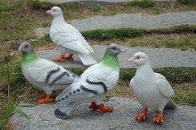 2 pcs garden resin doves home crafts ornaments artificial animal dove sculpture restaurant decoration crafts hotel decor