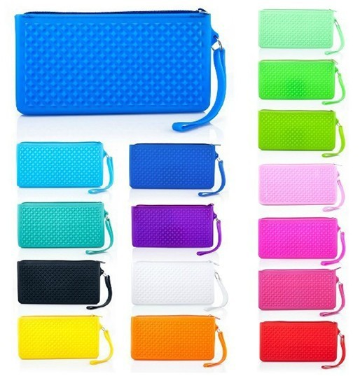 free shipping new candy-colored silicone purse wholesale coin holder women Handbag storage wallet  Wholesale 200pcs/lot