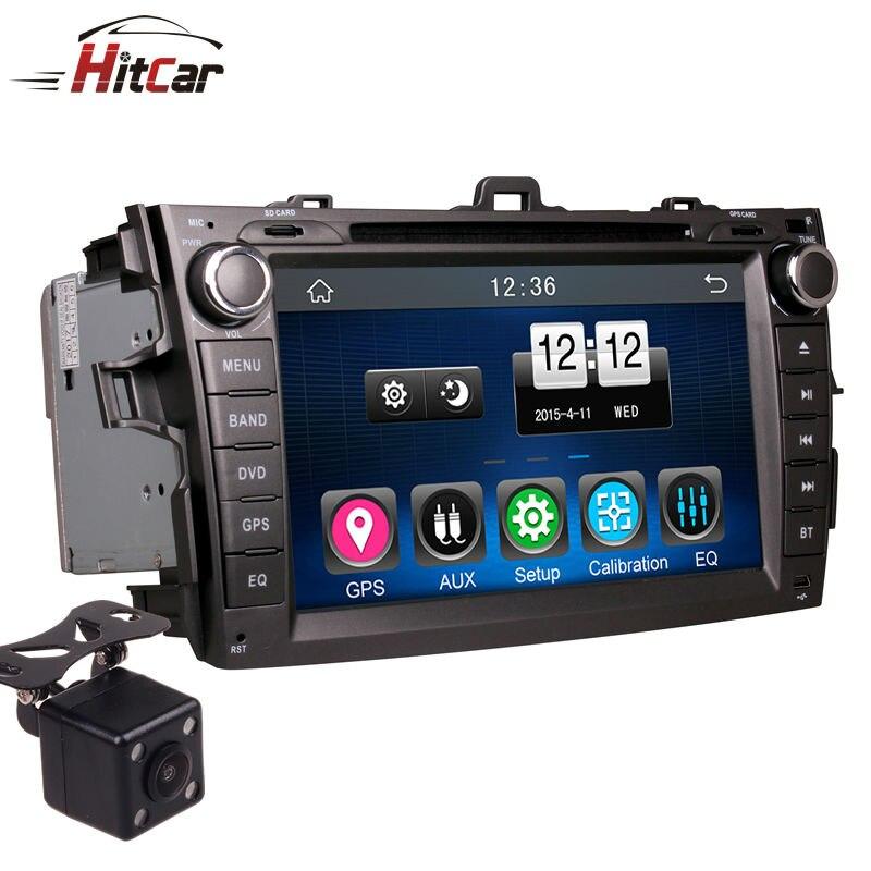 2Din No Painel Do Carro DVD Player Navegador GPS Unidade de Cabeça de Rádio Bluetooth Estéreos com Câmera Reversa para Toyota COROLLA 07-11