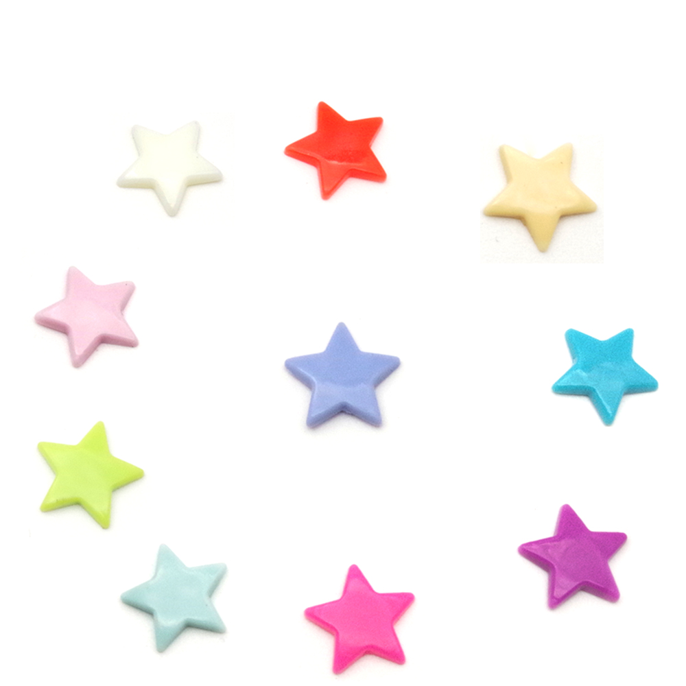 200sets 10 Colors mixed KAM Brand Star Shaped 200 sets Plastic KAM Snap Button Fastener buttons For Baby Diaper