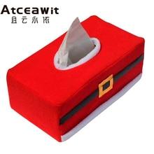 New Belt/Clover Pattern Merry Christmas tissue box cover