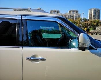 ABS Chrome plastic Window Visor Vent Shades Sun Rain Guard car accessories for Nissan patrol y62 2013-2018 car styling